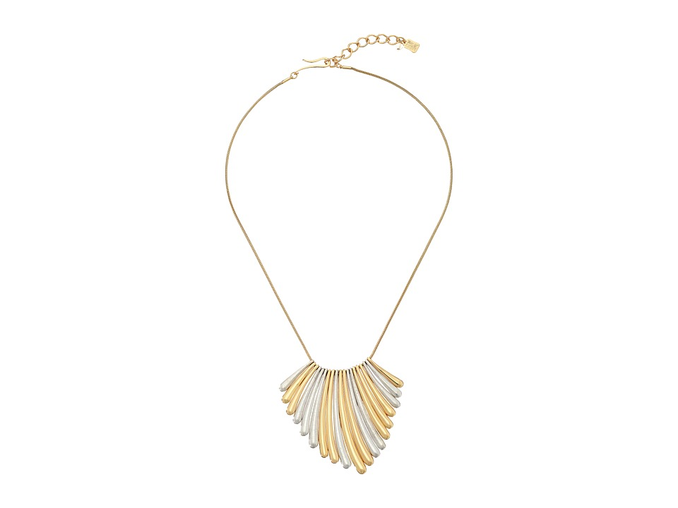 Robert Lee Morris - Two-Tone Sunray Frontal Necklace (Two-Tone) Necklace