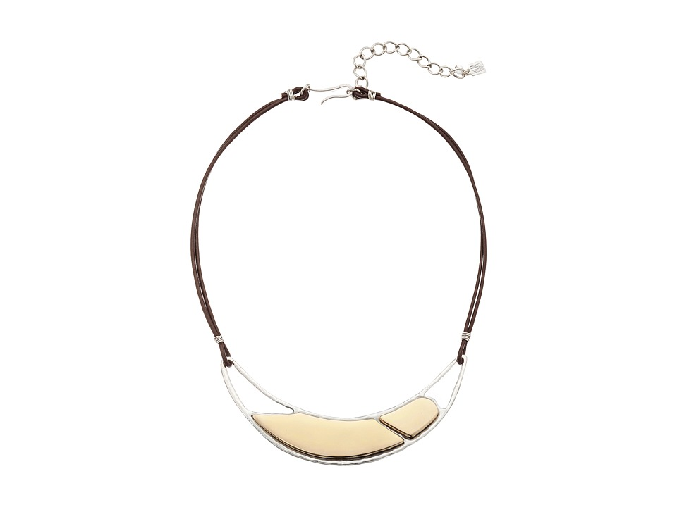 Robert Lee Morris - Mirror Smile Frontal Necklace (Two-Tone) Necklace
