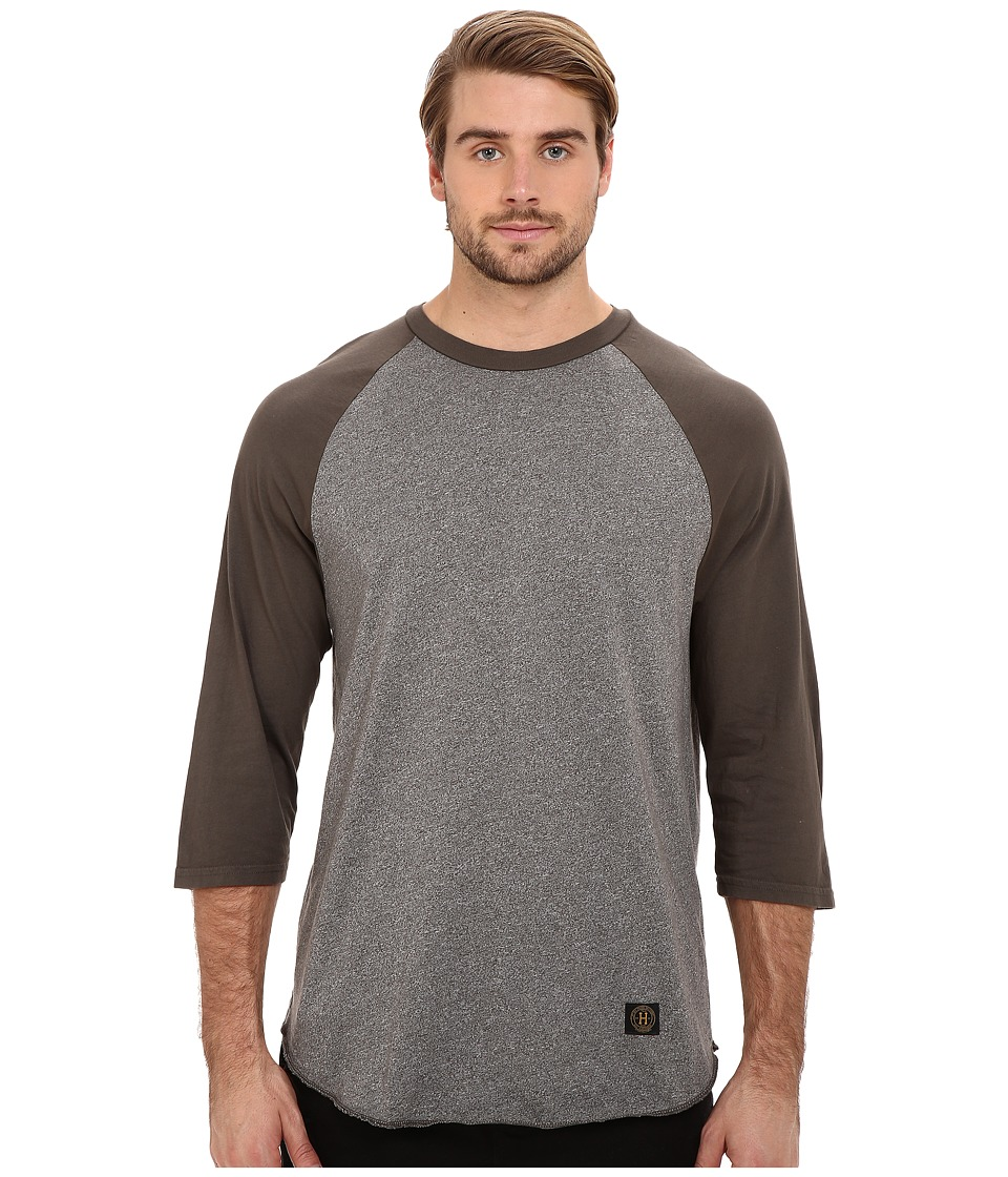 HUF - Standard Issue Raglan (Military Green) Men's Long Sleeve Pullover