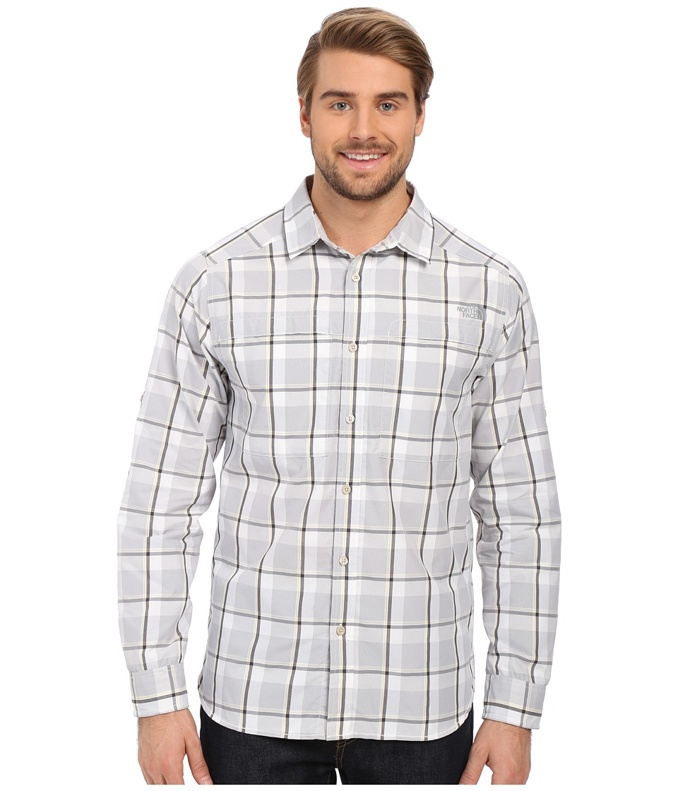 The North Face - Long Sleeve Traverse Plaid Shirt (Mid Grey Plaid) Men's Long Sleeve Button Up