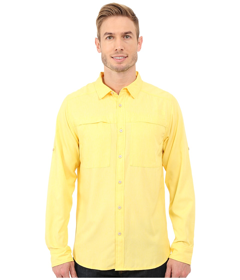 The North Face - Long Sleeve Traverse Shirt (Goldfinch Yellow Heather) Men's Clothing