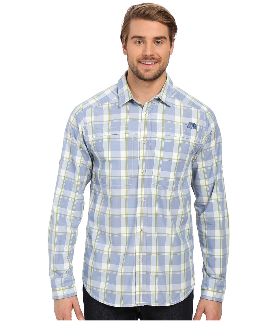 The North Face - Long Sleeve Traverse Plaid Shirt (Limoges Blue Plaid) Men's Long Sleeve Button Up
