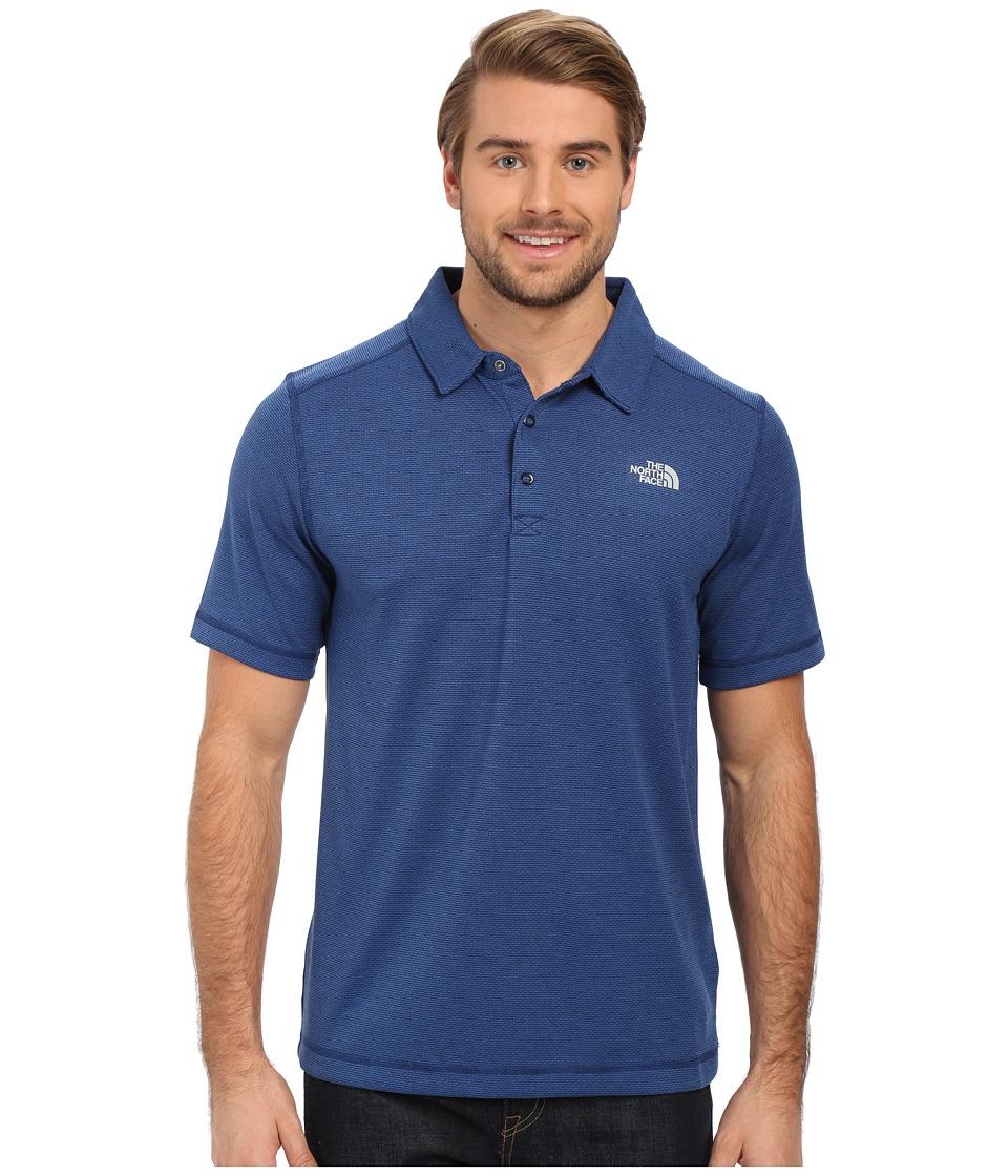 The North Face - Short Sleeve Horizon Polo (Cosmic Blue Stripe) Men's Clothing