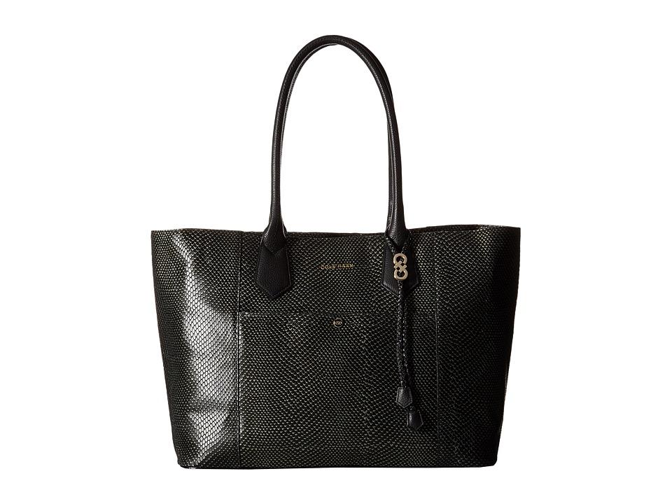 Cole Haan - Mila Tote (Pewter/Black) Tote Handbags