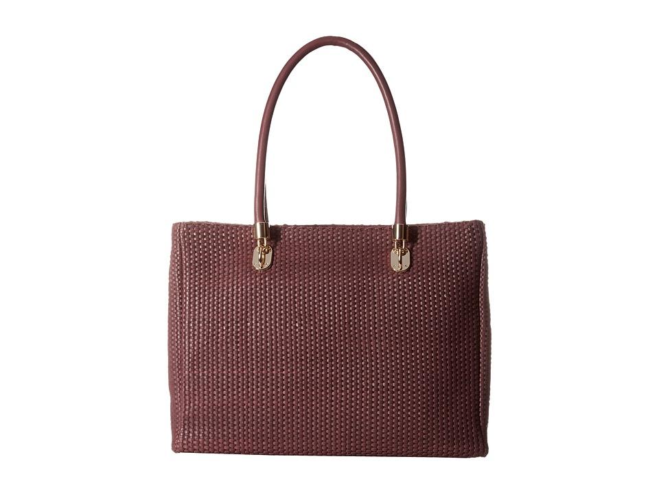 Cole Haan - Benson Woven Tote (Zinfandel) Tote Handbags
