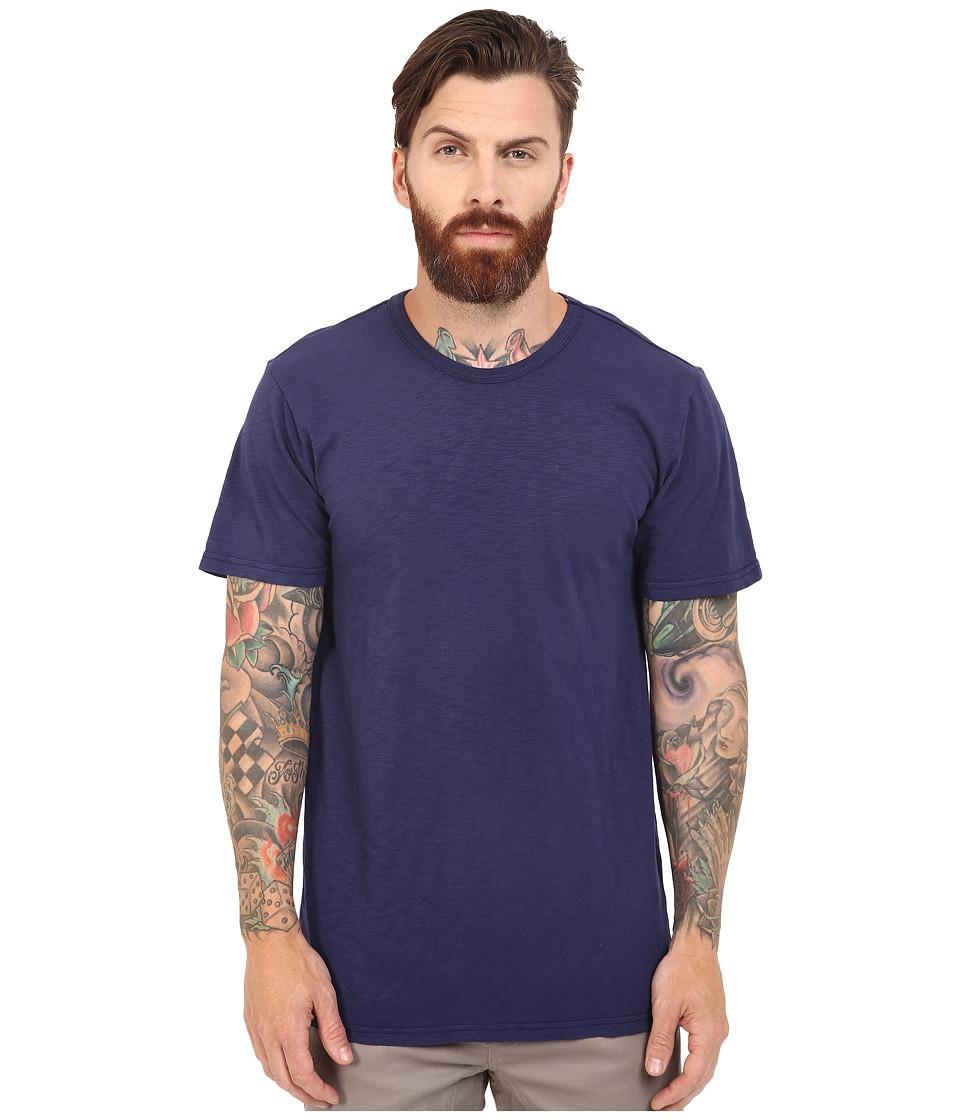 HUF - Concrete Garment Dye Tee (Indigo) Men's T Shirt