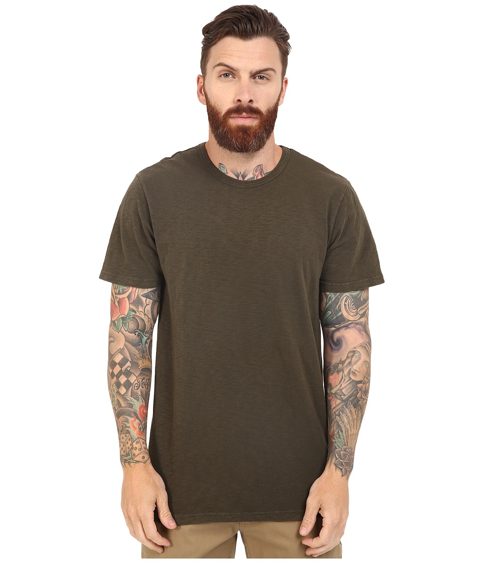 HUF - Concrete Garment Dye Tee (Military) Men's T Shirt