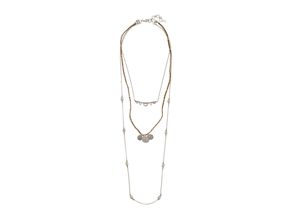 Lucky Brand - Lucky Layer Bali Necklace (Silver) Necklace