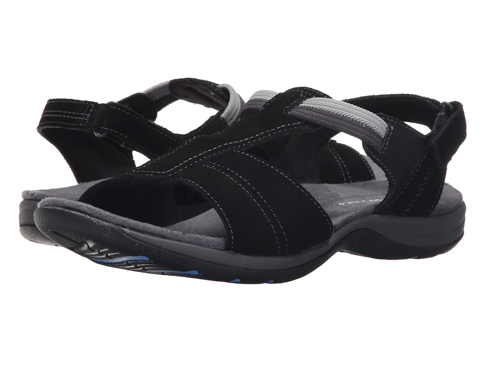 Easy Spirit - Sumana (Black/Black Suede) Women's Sandals