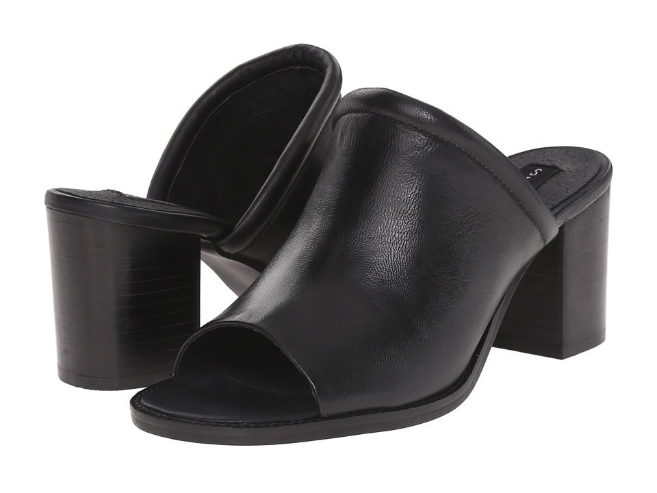 Steven - Sayzar (Black Leather) High Heels