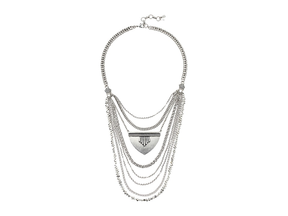 Lucky Brand - Major Bib Necklace (Silver) Necklace