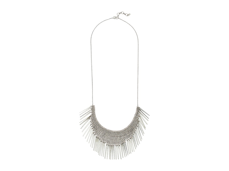 Lucky Brand - Major Fringe Necklace (Silver) Necklace