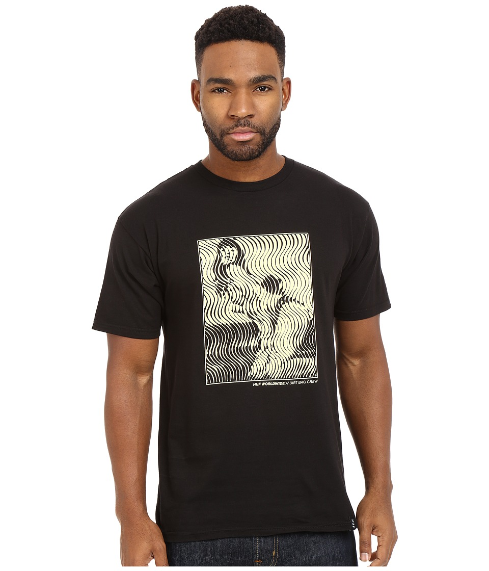 HUF - Wavy Lady Tee (Black) Men's Short Sleeve Pullover