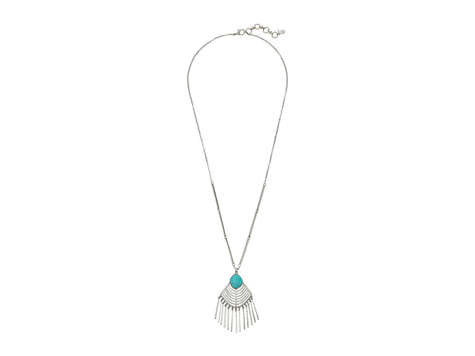 Lucky Brand - Silver and Turquoise Pendant Necklace (Silver) Necklace