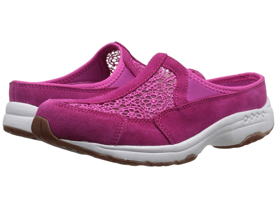 Easy Spirit - Travellace (Dark Pink Multi Suede) Women