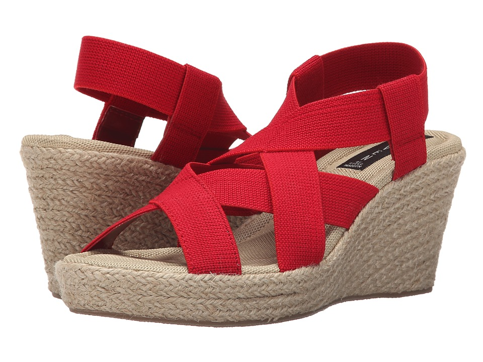 Steven - Janenn (Red Fabric) Women's Wedge Shoes
