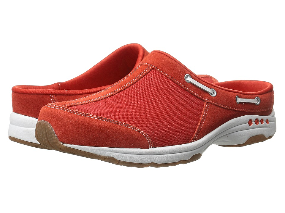Easy Spirit - Travelport (Medium Red/Medium Red Suede) Women's Slip on Shoes