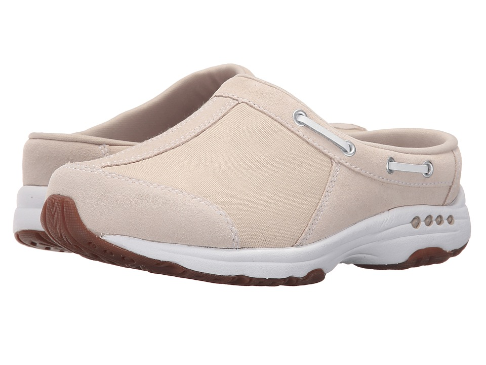 Easy Spirit - Travelport (Natural/Natural Suede) Women's Slip on Shoes