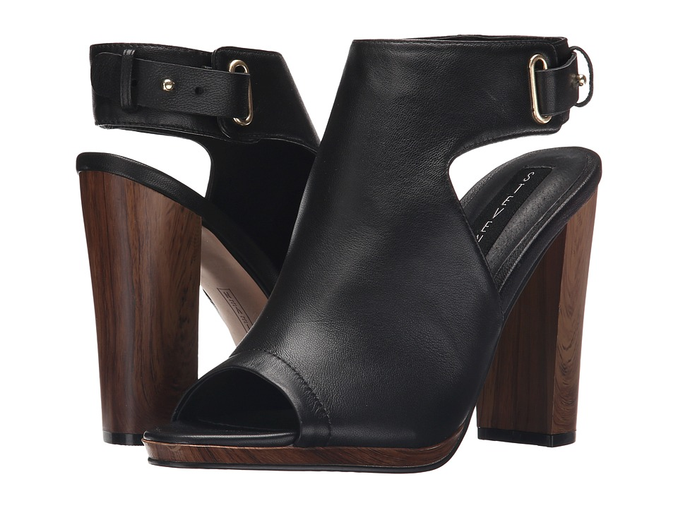 Steven - Nikolett (Black Leather) High Heels