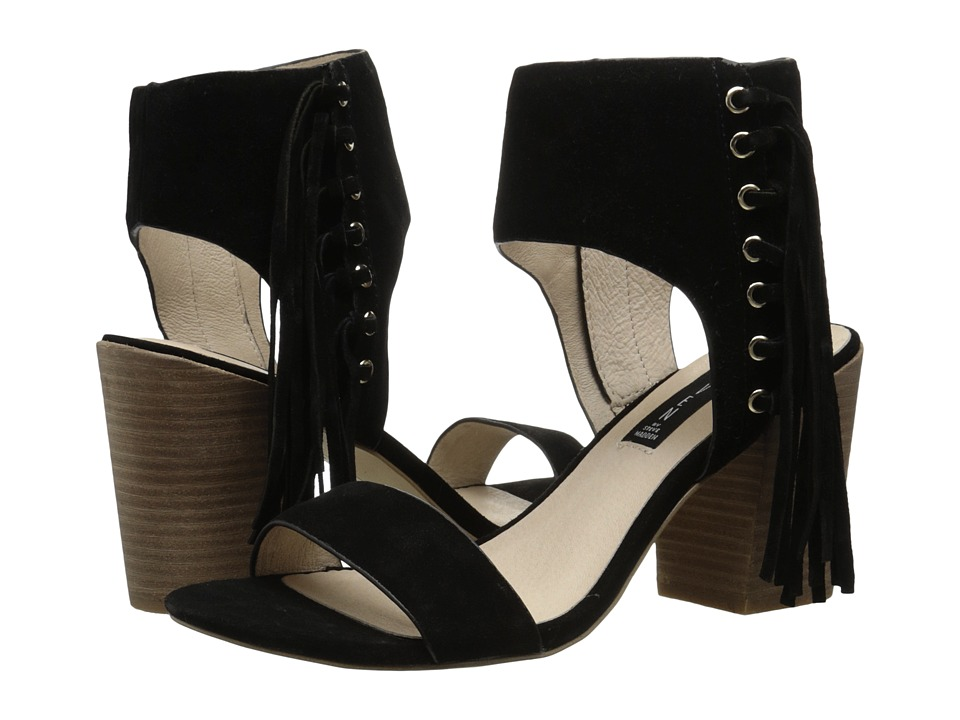 Steven Luisa (Black Suede) High Heels
