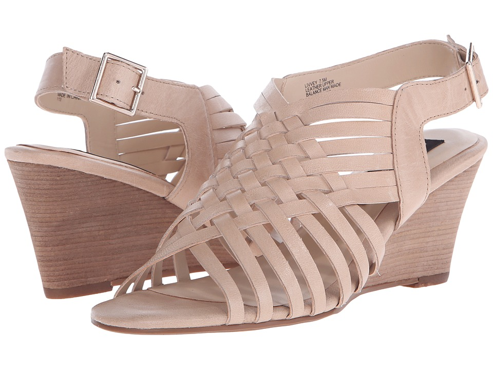 Steven - Livvey (Nude Leather) Women's Wedge Shoes