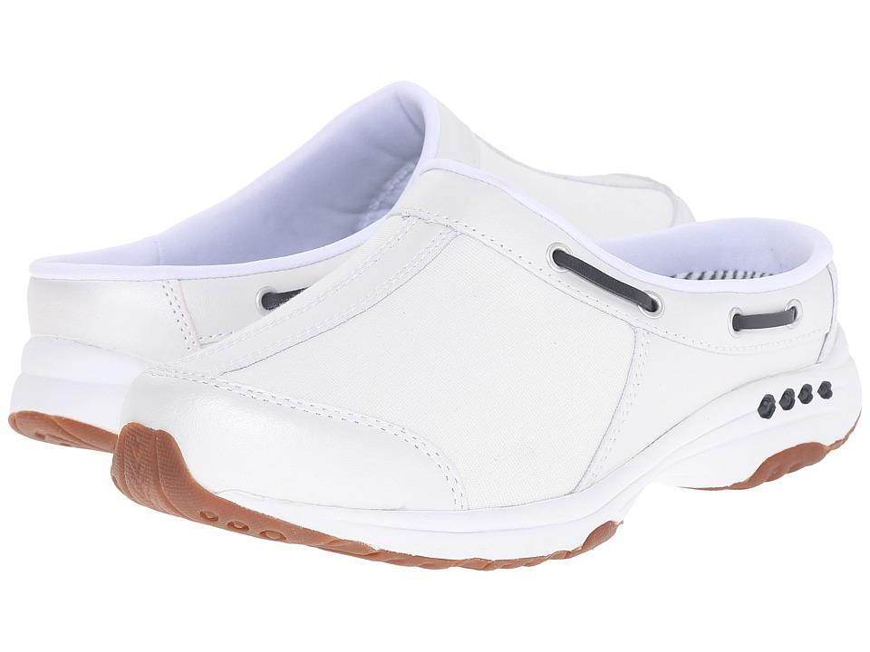 Easy Spirit - Travelport (White/White Leather) Women's Slip on Shoes