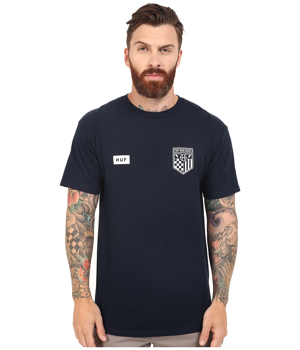 HUF - Worldwide Team Tee (Navy) Men's T Shirt