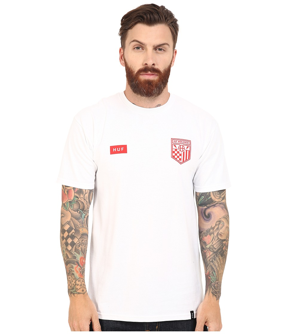 HUF - Worldwide Team Tee (White) Men's T Shirt
