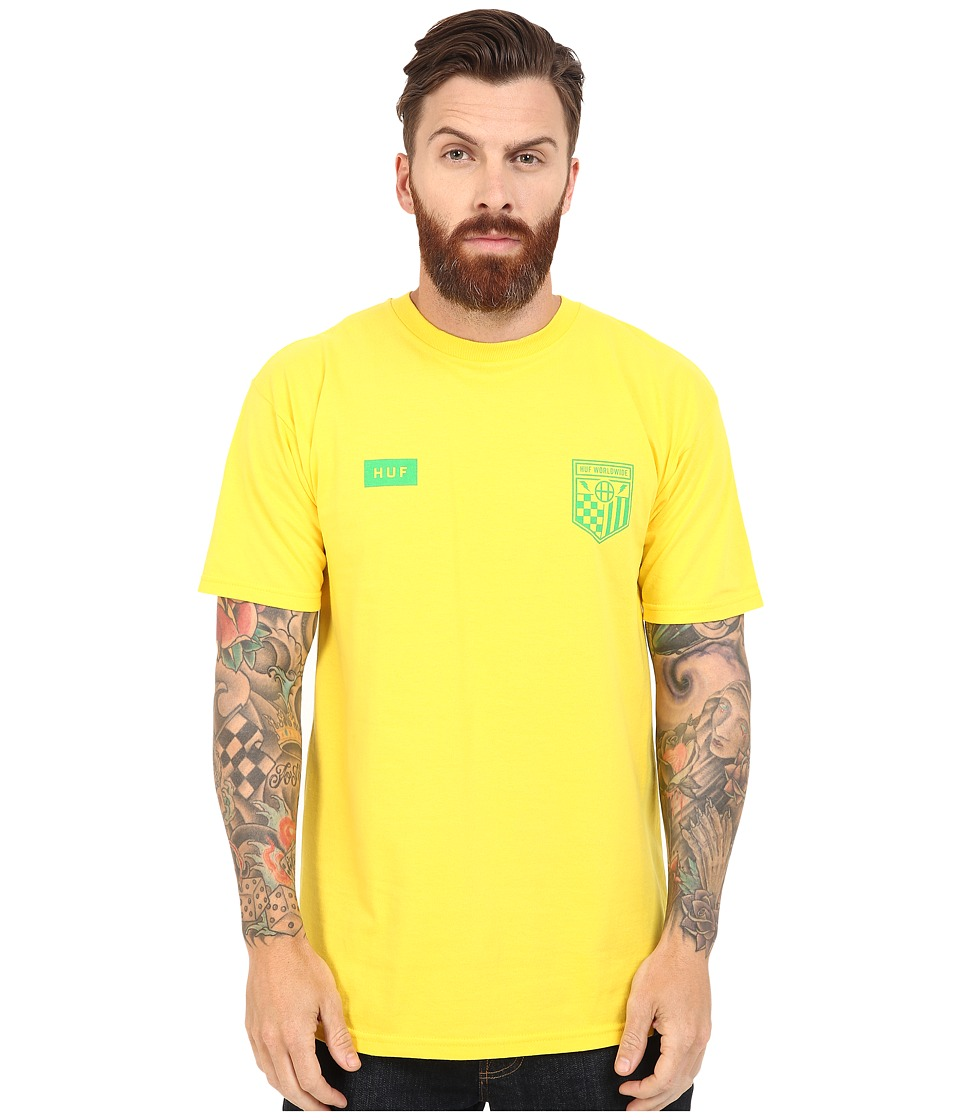 HUF - Worldwide Team Tee (Yellow) Men's T Shirt