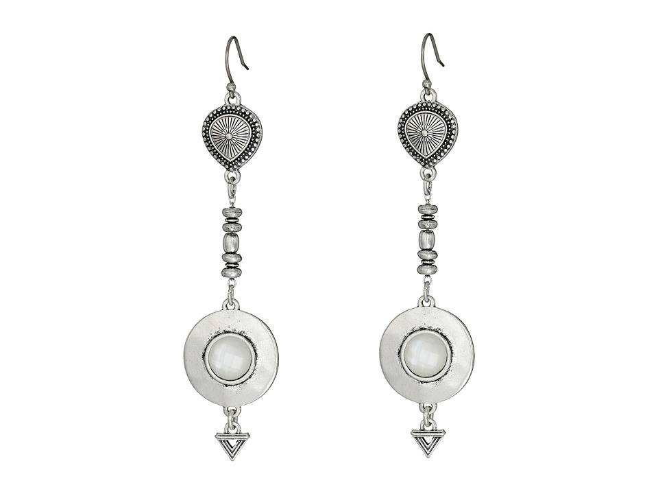 Lucky Brand - Double Major Drop Earrings (Silver) Earring