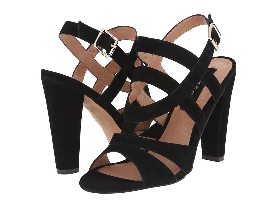 Steven - Cassndra (Black Suede) High Heels