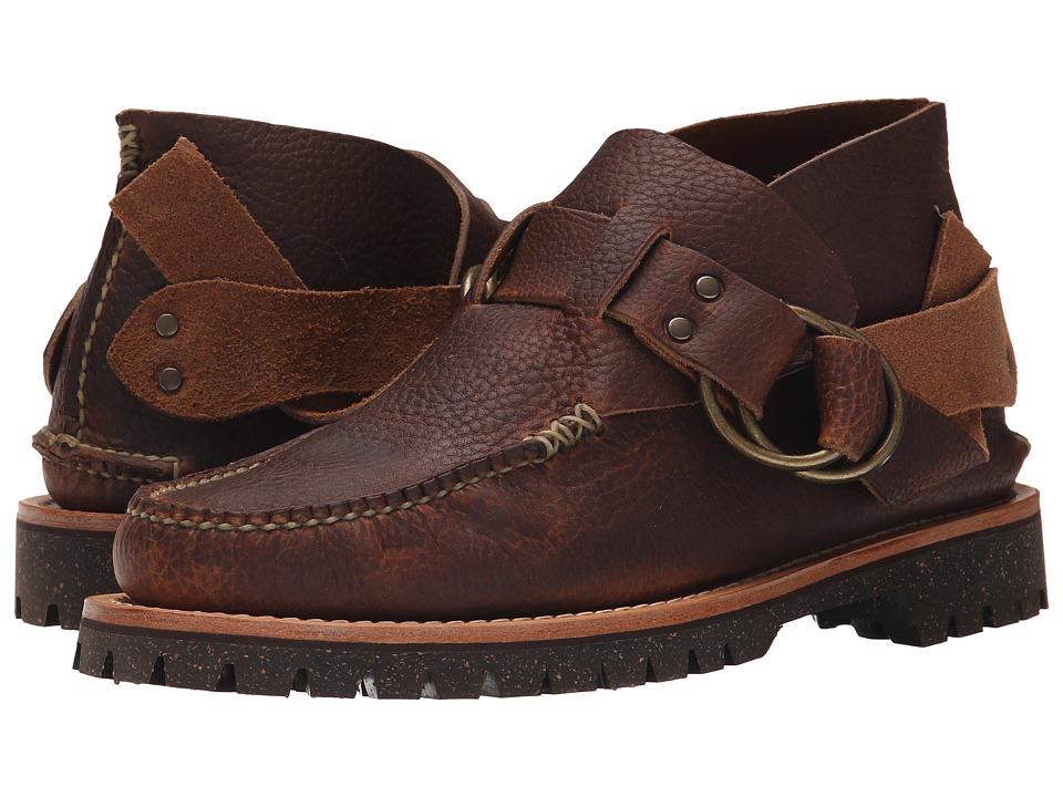 Yuketen Ring Boots w/ Cortina Sole (Bk Med Brown) Men
