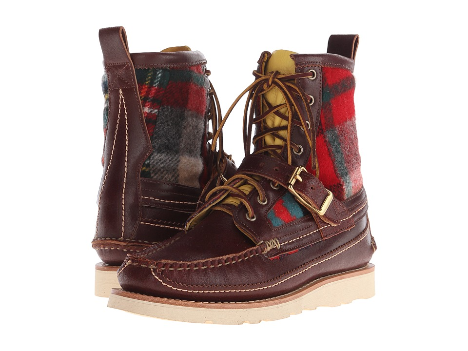 Yuketen Maine Guide DB Boots w/ Strap (Quilt Red) Men