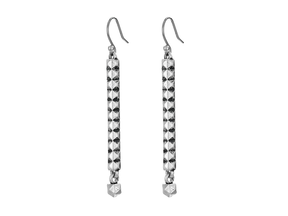 Lucky Brand - Studded Liner Earrings (Silver) Earring