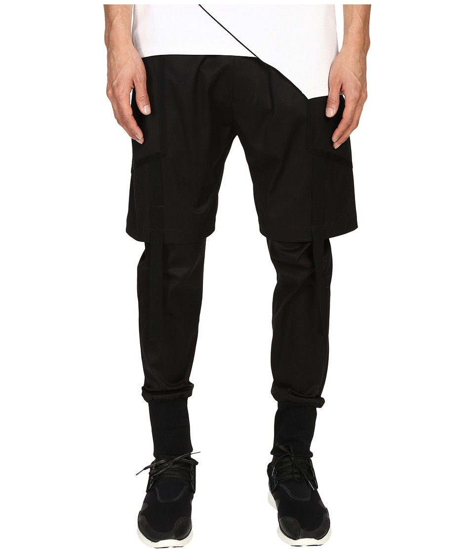 Pyer Moss - Strapped Double Layer Trousers (Black) Men's Casual Pants