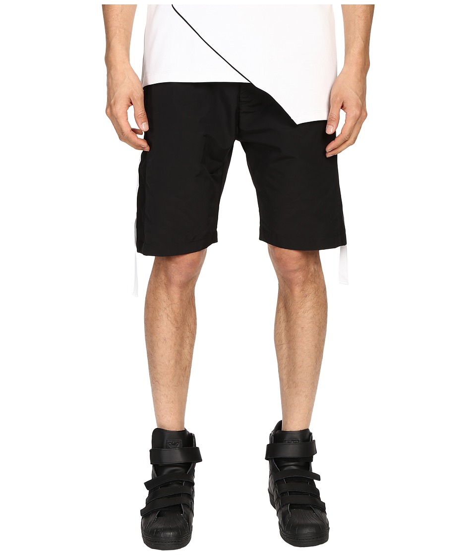 Pyer Moss - Run Away Track Shorts (Black) Men's Shorts