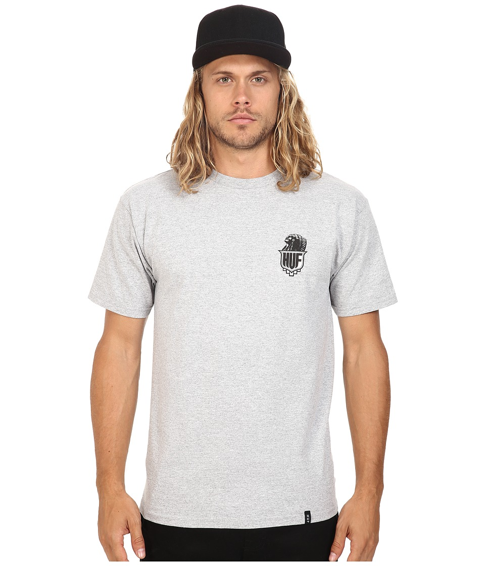 HUF - Crazy Horse Tee (Grey Heather) Men's T Shirt