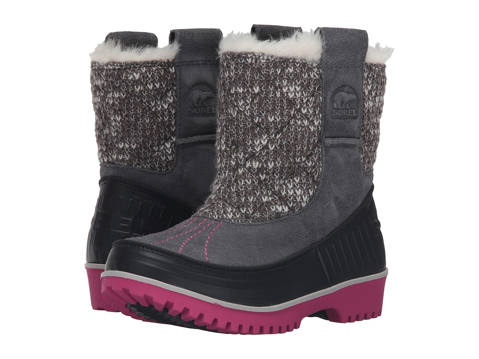 SOREL Kids - Tivoli II Pull-On (Little Kid/Big Kid) (City Grey/Haute Pink) Girls Shoes