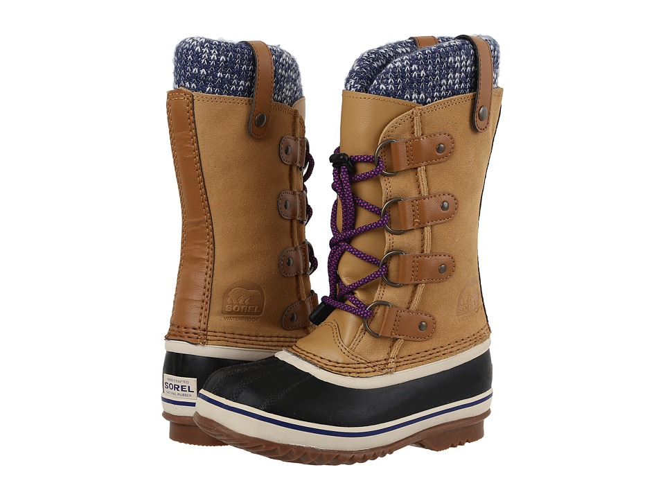 SOREL Kids Joan of Arctic Knit (Little Kid/Big Kid) (Curry) Girls Shoes