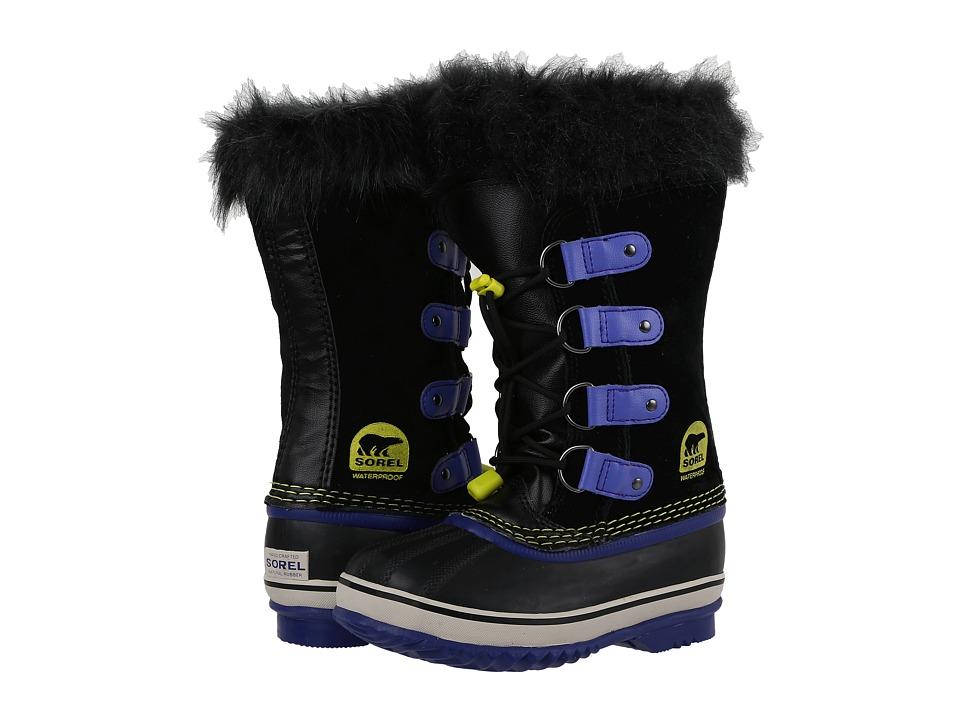 SOREL Kids Joan of Arctic (Little Kid/Big Kid) (Black/Purple Arrow) Girls Shoes
