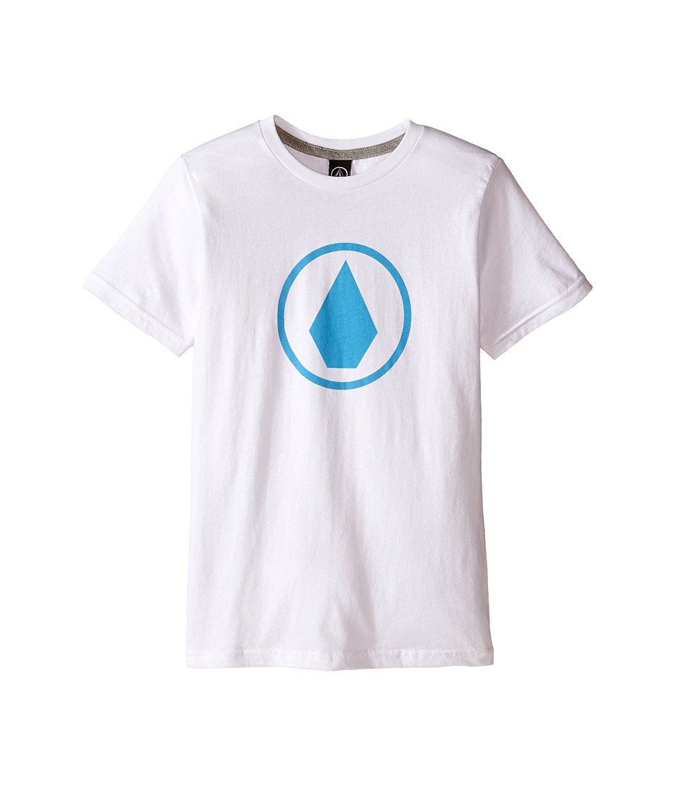 Volcom Kids - Solid Stone Short Sleeve Tee (Toddler/Little Kids) (White) Boy's T Shirt