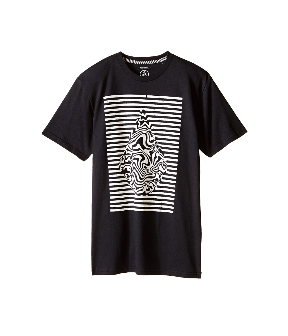 Volcom Kids - Stone Trip Short Sleeve Tee (Big Kids) (Black) Boy