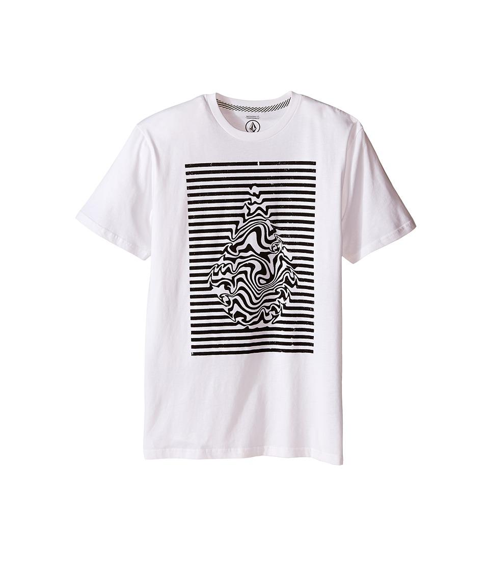 Volcom Kids - Stone Trip Short Sleeve Tee (Big Kids) (White) Boy's T Shirt