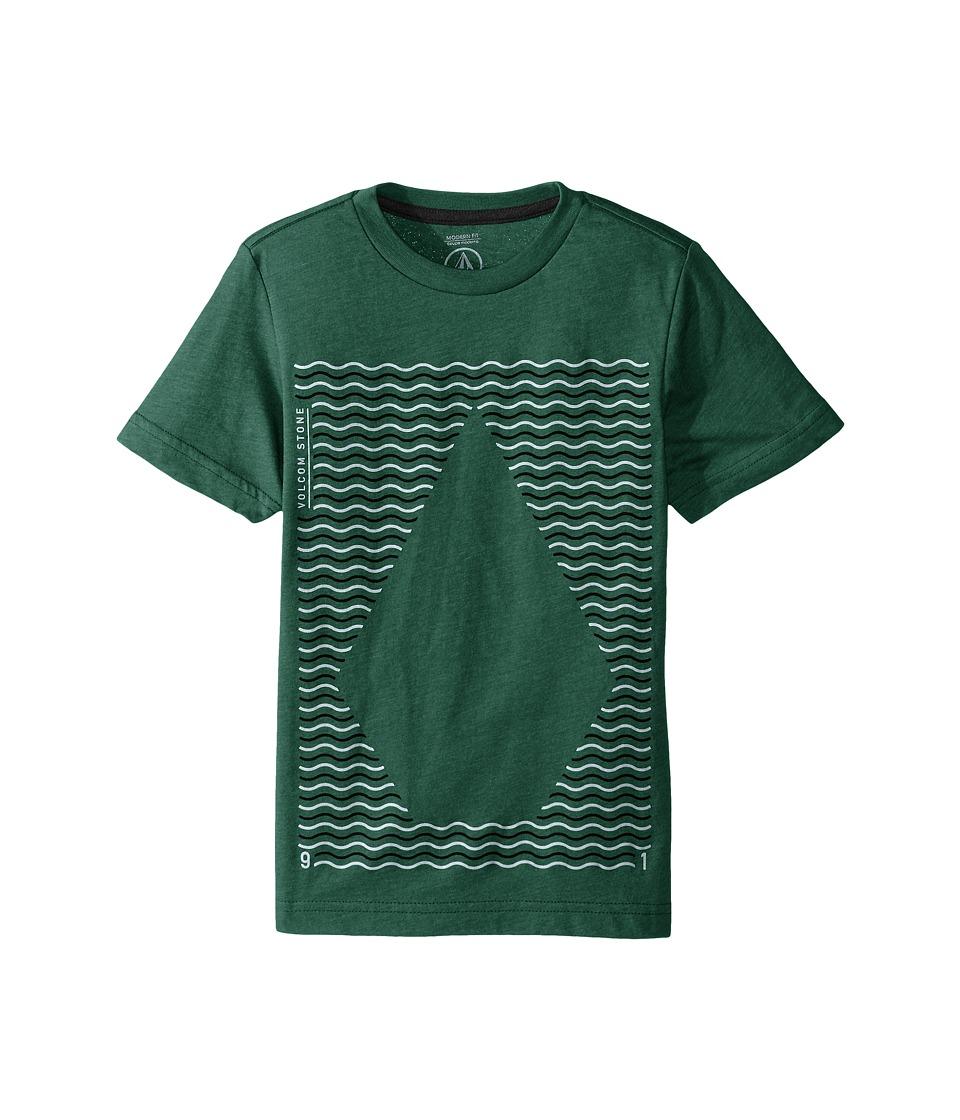 Volcom Kids - Waves Short Sleeve Tee (Big Kids) (Bottle Green Heather) Boy