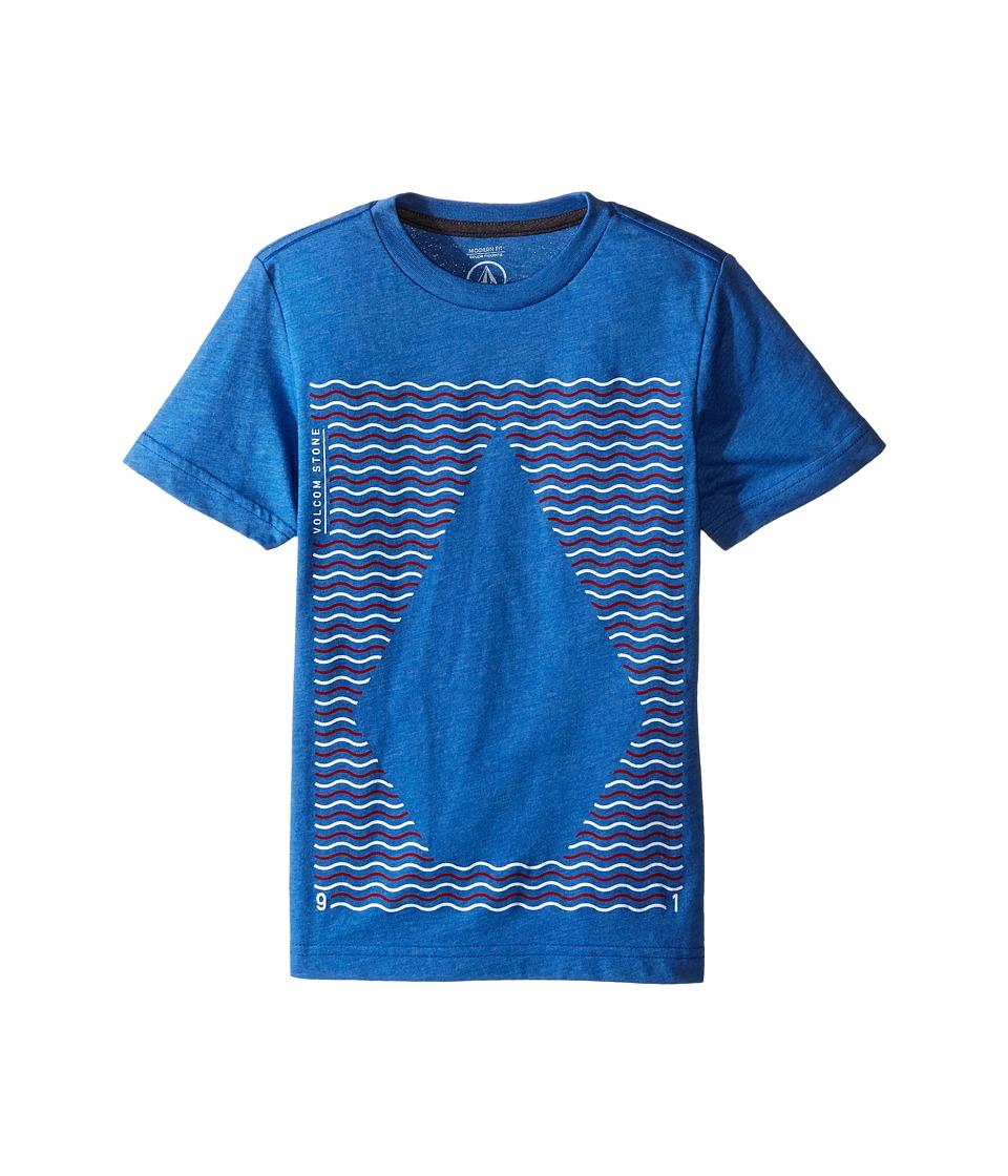 Volcom Kids - Waves Short Sleeve Tee (Big Kids) (Estate Blue Heather) Boy's T Shirt