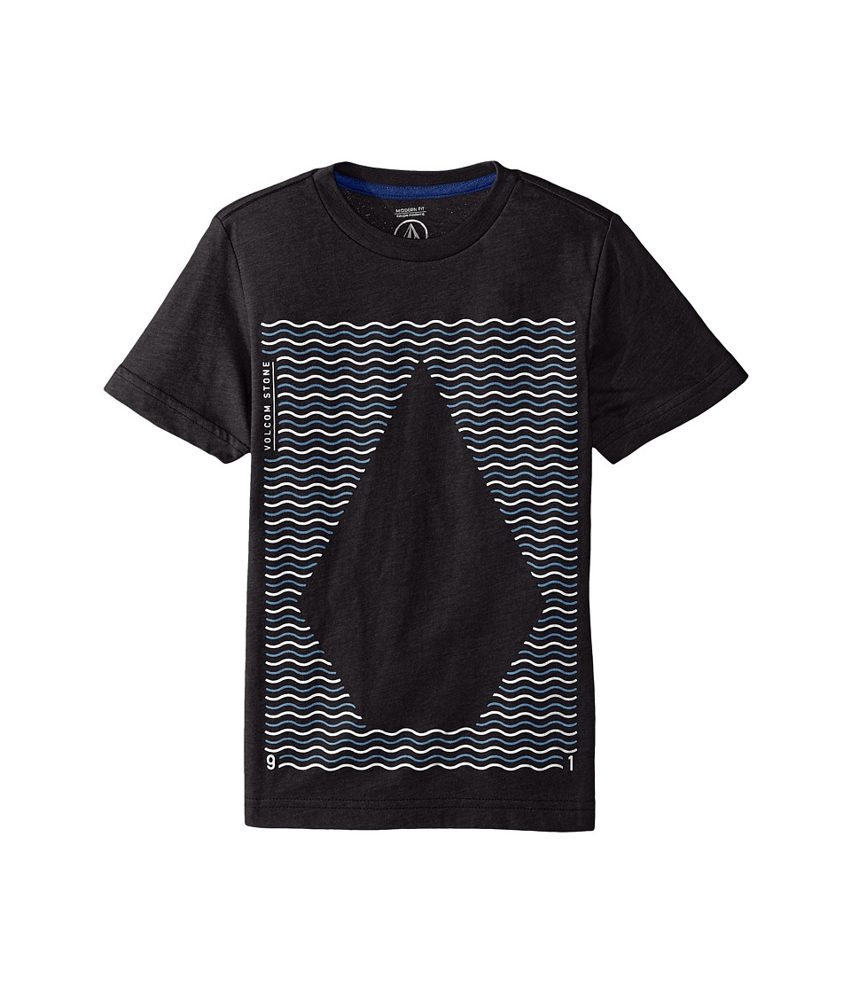 Volcom Kids - Waves Short Sleeve Tee (Big Kids) (Heather Black) Boy's T Shirt