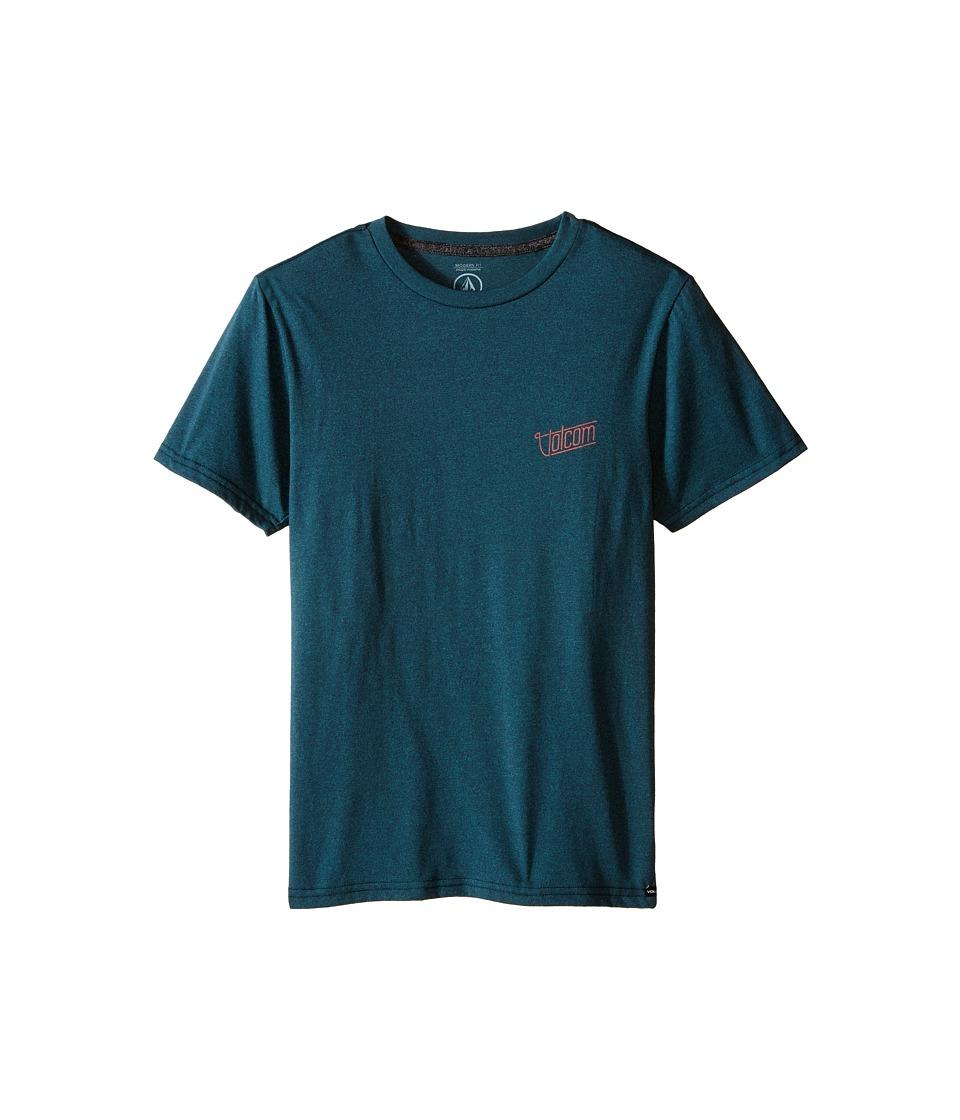 Volcom Kids - Brick Short Sleeve Tee (Big Kids) (Navy) Boy's T Shirt