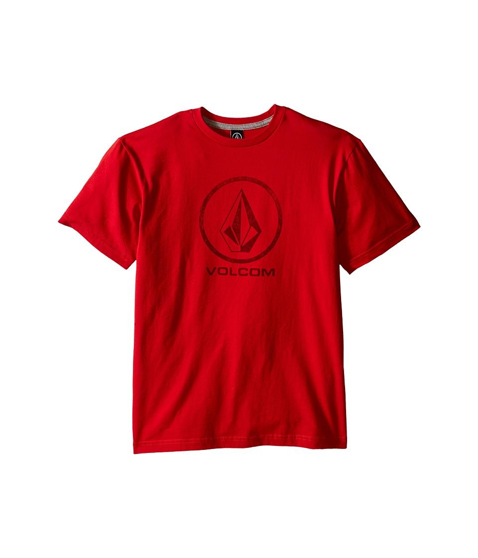 Volcom Kids - Fade Stone Short Sleeve Shirt (Big Kids) (Candy Apple) Boy's T Shirt