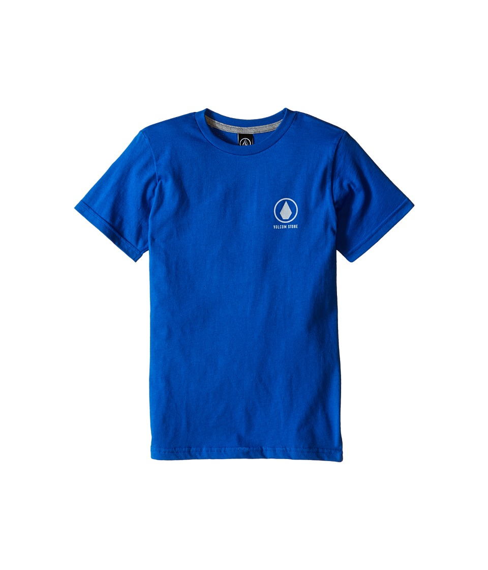 Volcom Kids - Move On Short Sleeve Shirt (Toddler/Little Kids) (Estate Blue) Boy's Short Sleeve Pullover