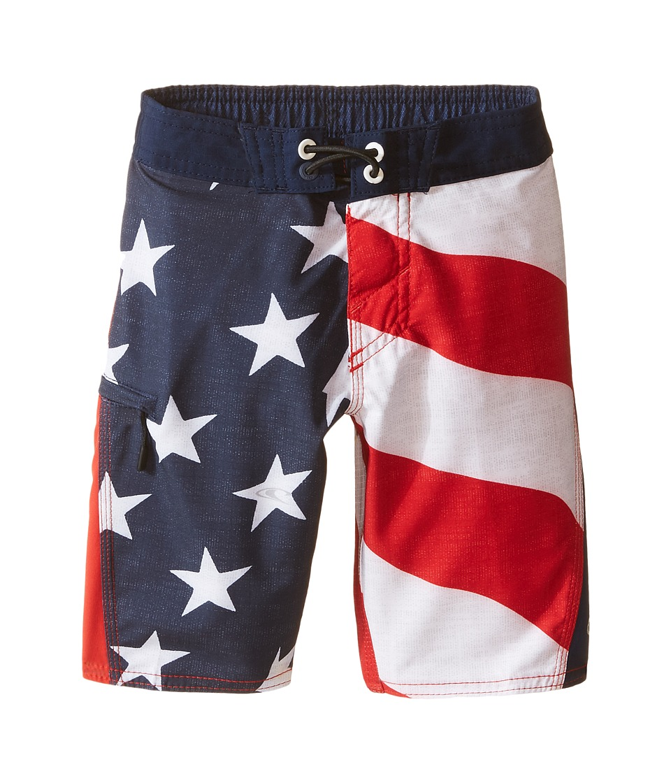 O'Neill Kids - Sneakyfreak Boardshorts (Little Kids) (Red) Boy's Swimwear